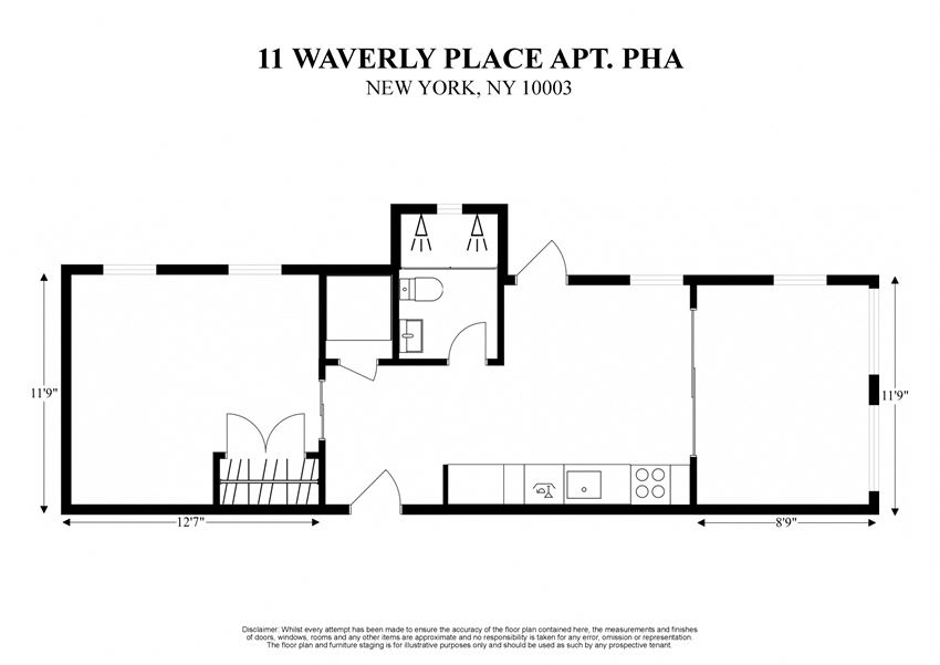 11 WAVERLY PLACE APT PHA -NEW YORK NY 10003 – GREENWICH VILLAGE – 2D FLOORPLAN