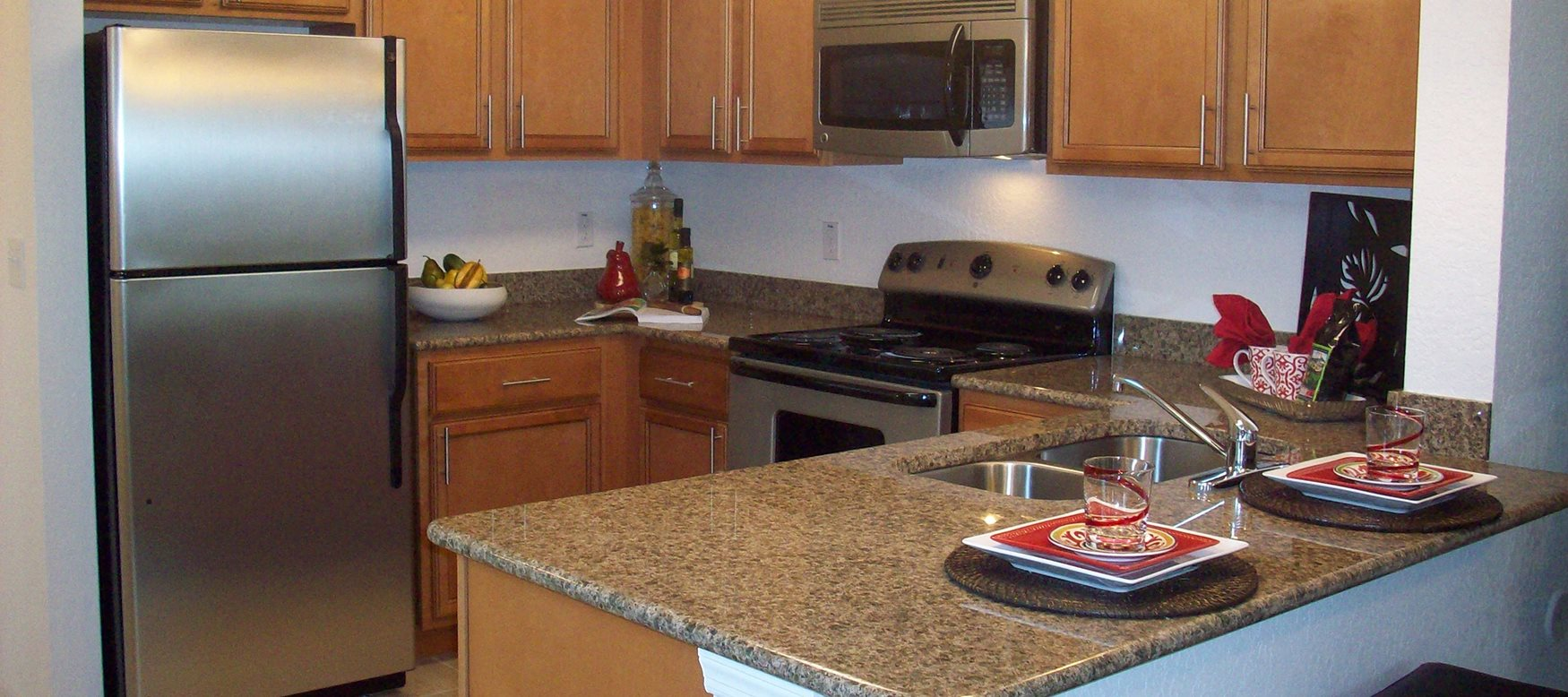 Boca Palms Apartments for rent in Kissimmee, FL. Make this community your new home or visit other ConcordRENTS communities at ConcordRENTS.com. Kitchen