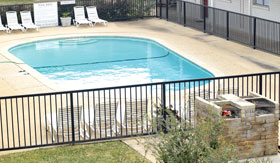 Outdoor Pool at College View Apartments in Stephenville