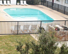 Pool at College View Apartments in Stephenville