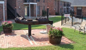 BBQ Area at Apartments in Stephenville