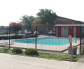 Pool at Auburn Place Apartments in Stephenville