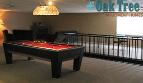Game Room at Oak Tree Apartments
