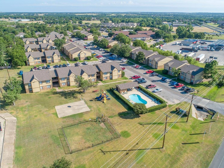 Apartments in Stephenville Aerial