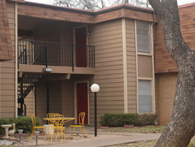 Patio at Park West Apartments in Stephenville