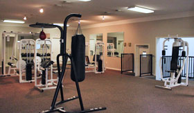 Fitness Center at Oak Tree Apartments in Stephenville