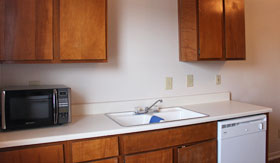 Kitchen at Apartments in Stephenville