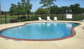 Pool at Oak Tree Apartments in Stephenville