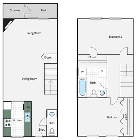 2 BR-A Floor Plan 2