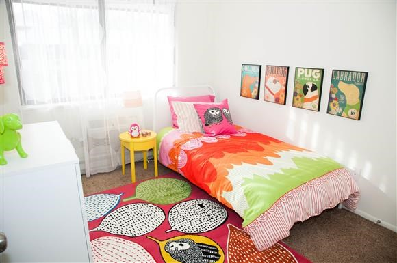 Small Bedroom at Kingston Square Apartments, Indianapolis, IN