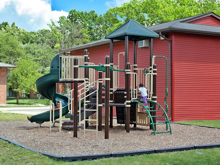 Outdoor Play Area at Kingston Square Apartments, Indianapolis, 46226