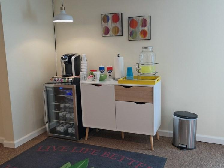 Coffee machine at Kingston Square Apartments, Indianapolis, 46226