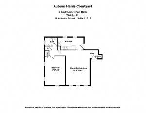 1 BR - Auburn Harris Courtyard