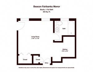 Studio - Beacon Fairbanks Manor