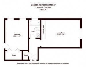 1 BR - Beacon Fairbanks Manor