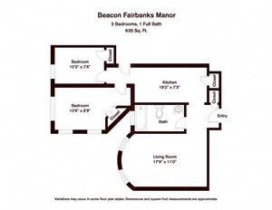 2 BR - Beacon Fairbanks Manor