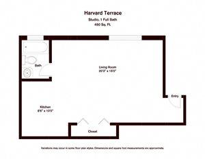Studio - Harvard Terrace