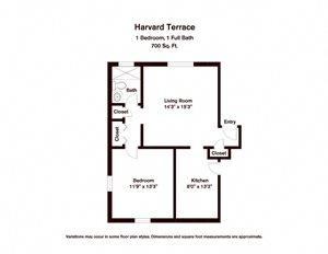 1 BR - Harvard Terrace