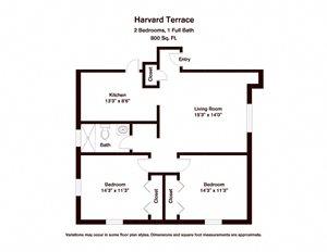 2 BR - Harvard Terrace