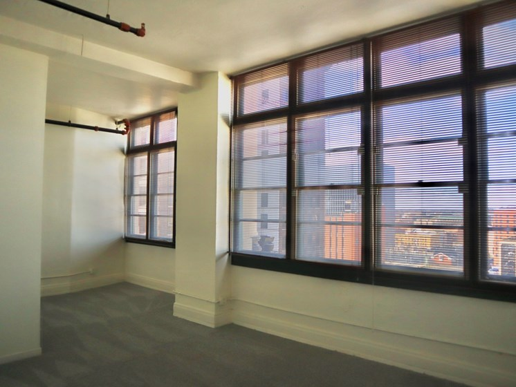 Beautiful Windows at LaSalle Apartments in Downtown Toledo, OH