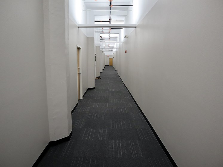 New Hallway Carpet and LED Lighting at LaSalle Apartments in Downtown Toledo, OH
