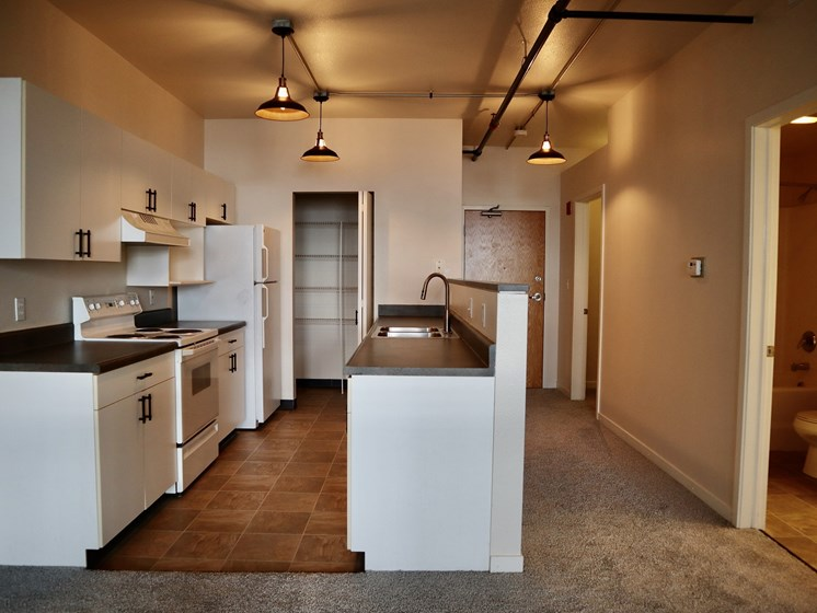 Kitchen at LaSalle Apartments in Downtown Toledo, OH