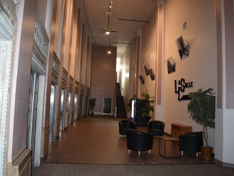 Main Lobby at LaSalle Apartments in Downtown Toledo, OH
