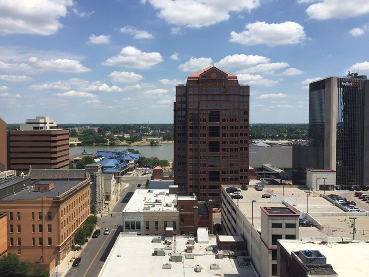 Rooftop View of The Historic LaSalle Apartments in Downtown Toledo, OH