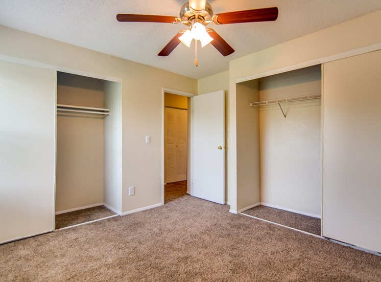 2 closets at Prairie Walk Apartments in Kansas City, MO and in South Kansas City, MO