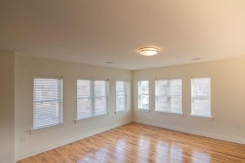Living Room Space with hardwood floors