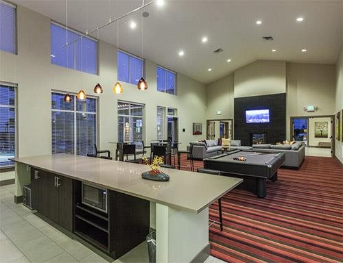 gameroom and clubhouse at Altia Apartments, Lynnwood, WA,98037