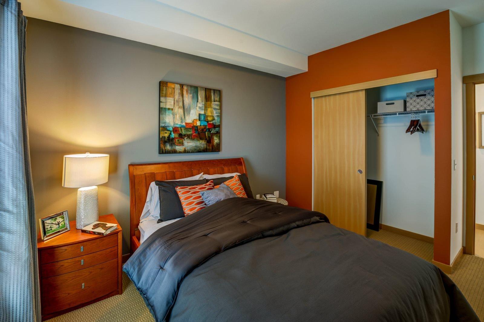 Live in cozy bedrooms at Altia Apartments, Lynnwood, WA,98037