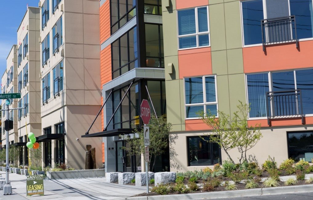 Direct Street-Level Access at Canvas Apartments, Seattle, WA,98119