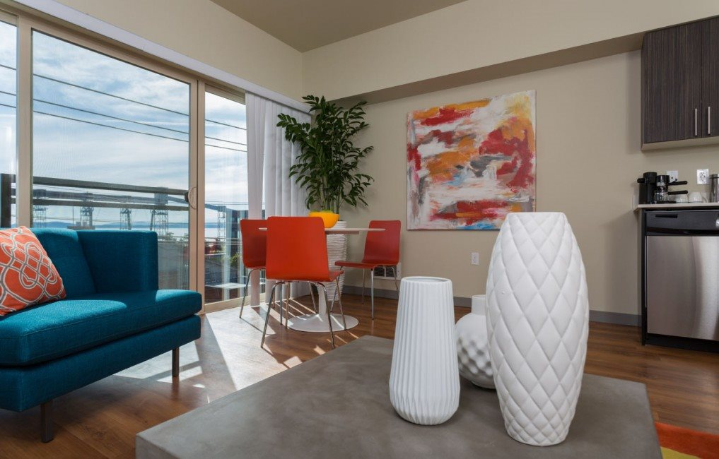 Renovated Interior at Canvas Apartments, Seattle, WA,98119