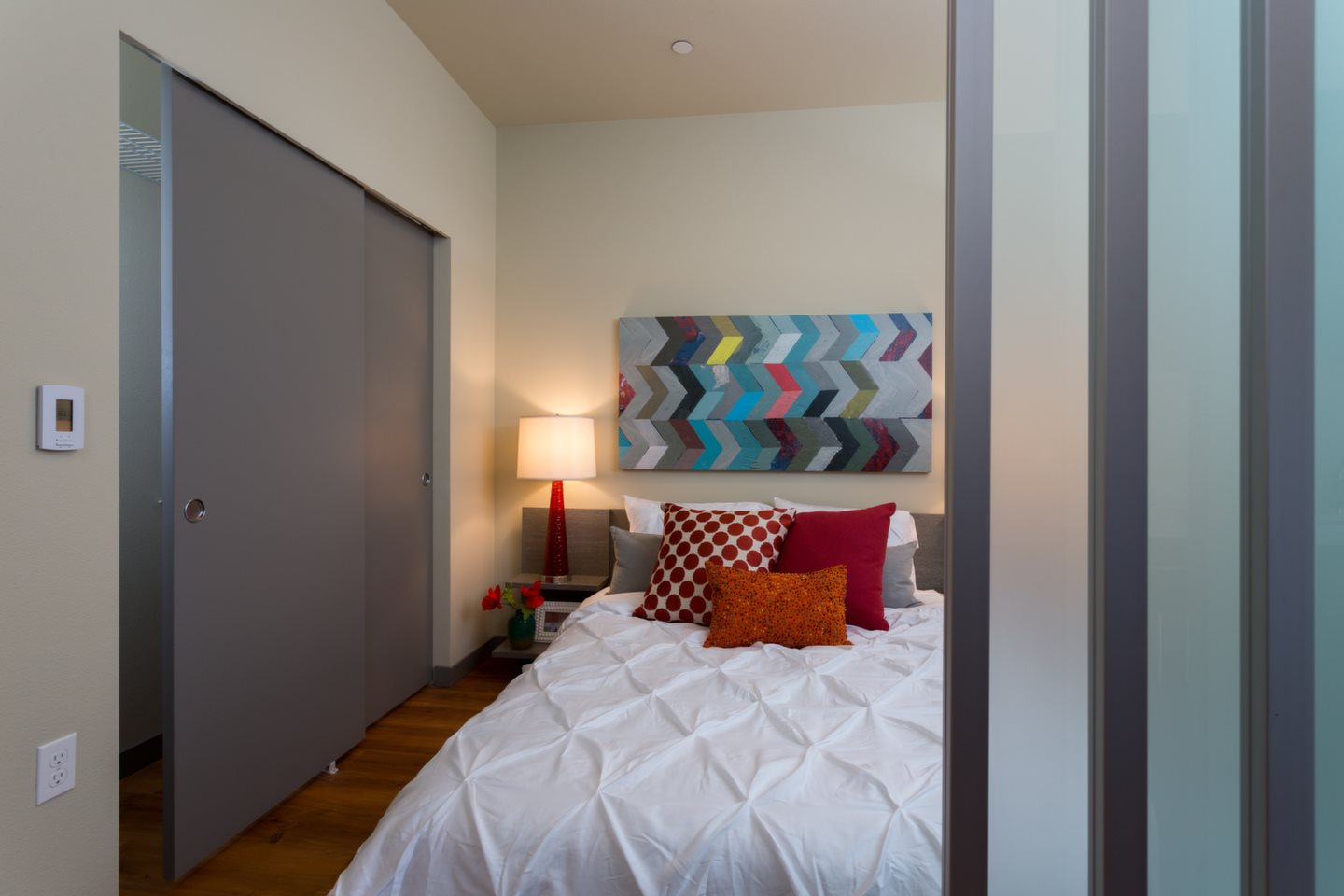 Live in cozy bedrooms at Canvas Apartments, Seattle, WA,98119