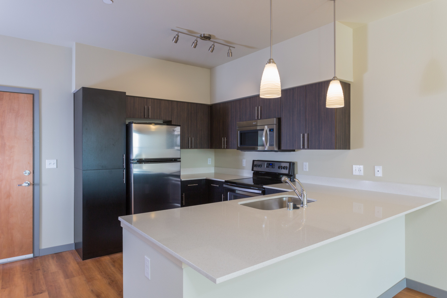 Quartz Countertops At Canvas Apartments, Seattle, WA,98119