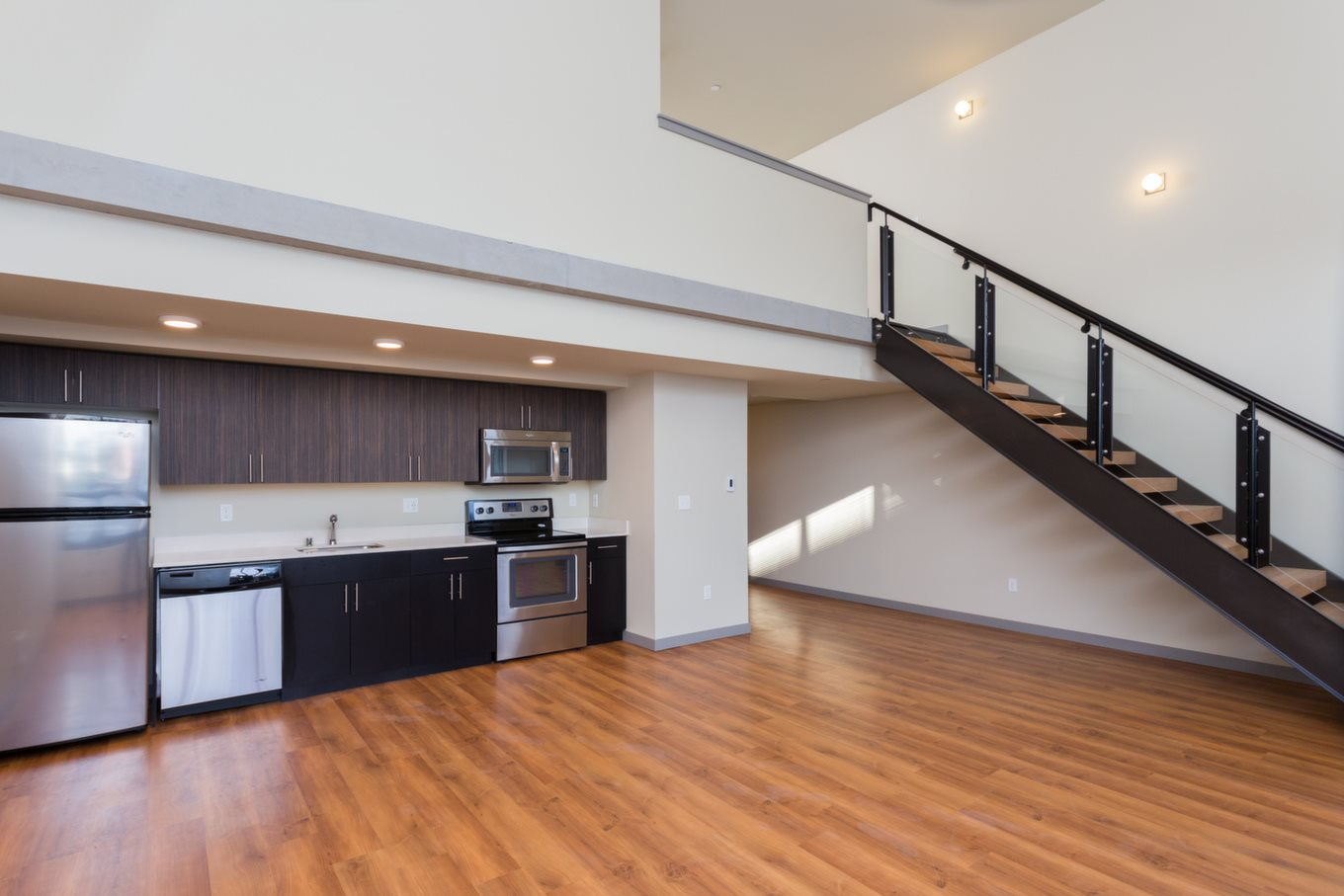 Hard-plank Flooringat Canvas Apartments, Seattle, WA,98119