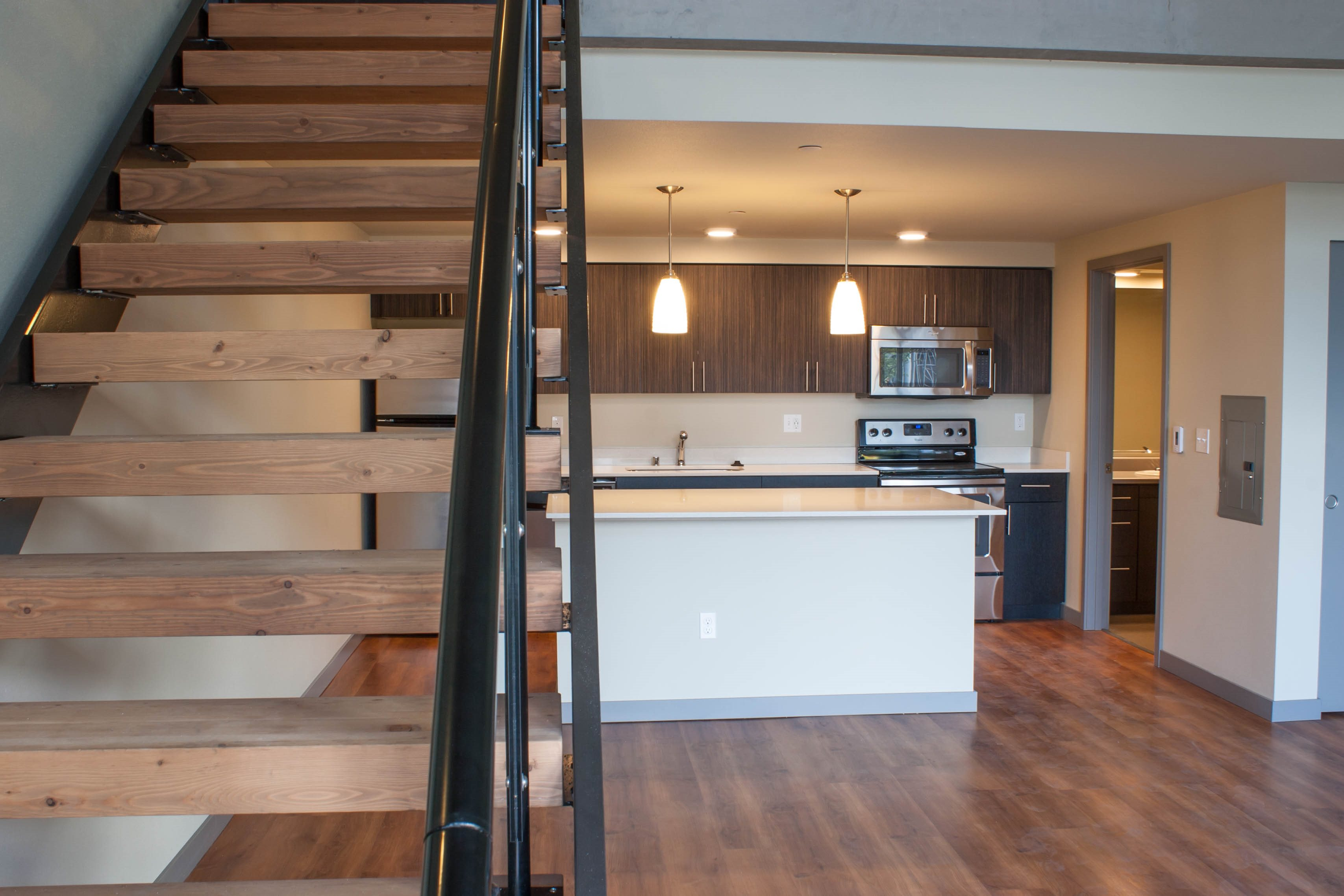 Hard-plank Flooring at Canvas Apartments, Seattle, WA,98119