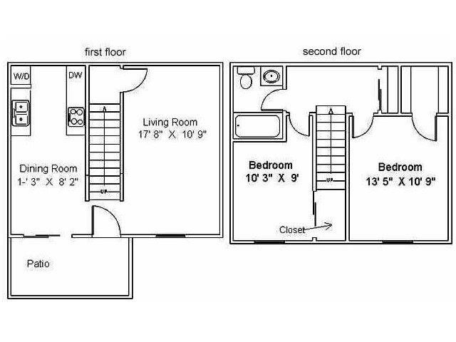 2-Bedroom Townhome