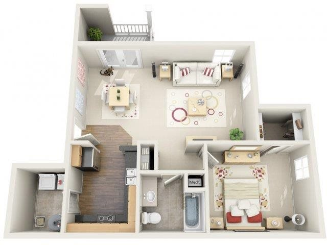 Floor Plan Polaris Place Apartments