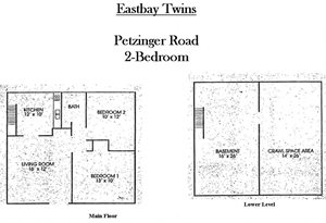 2-BR Twin Single - E. Columbus (Eastbay Twins)