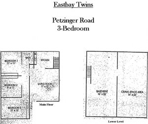 3-BR Twin Single - E. Columbus (Eastbay Twins)