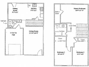 3-BR Townhome - W. Columbus (Westbury Commons)