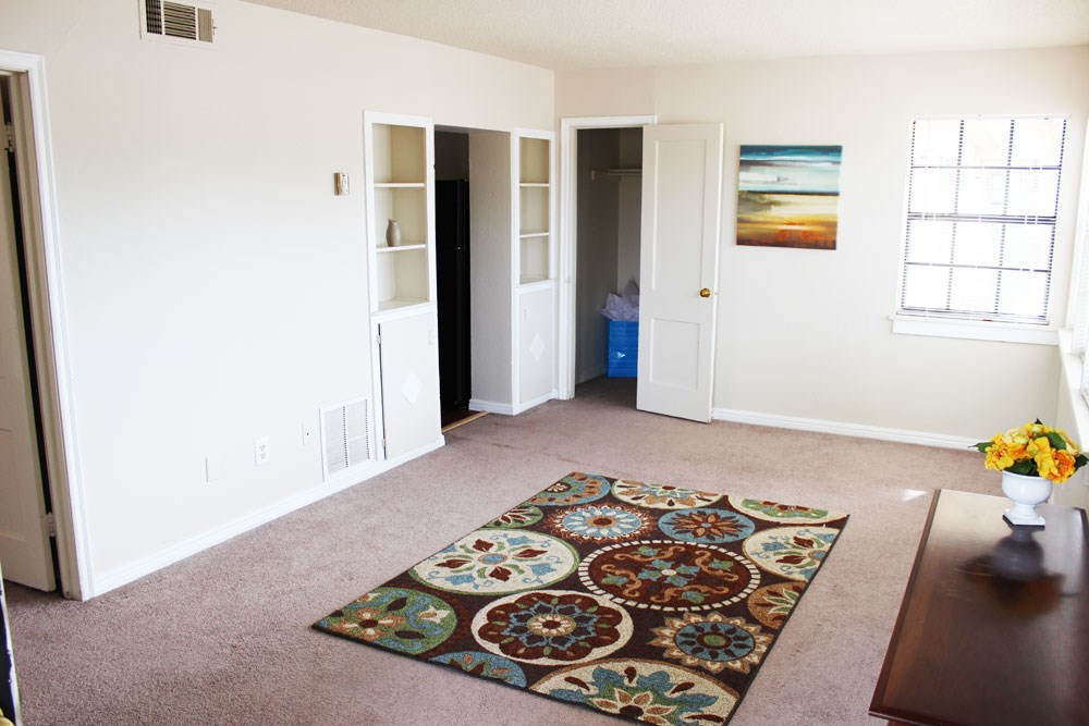 Spacious living room at Palo Duro Place in Amarillo TX