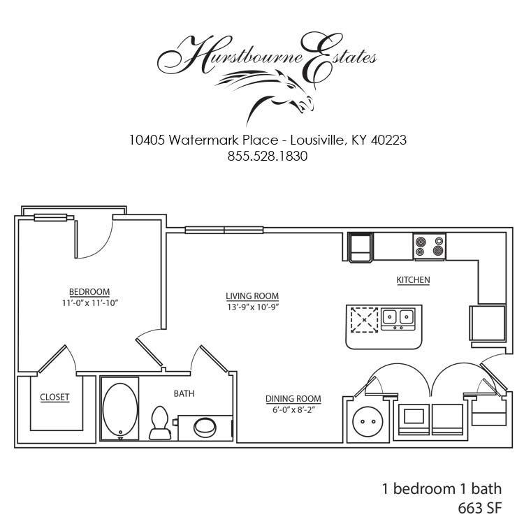 1 - 1B Floor Plan 1