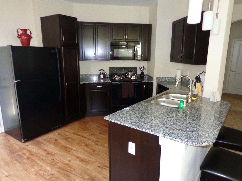 Large kitchen at Hurstbourne Estates Apartments in louisville, KY
