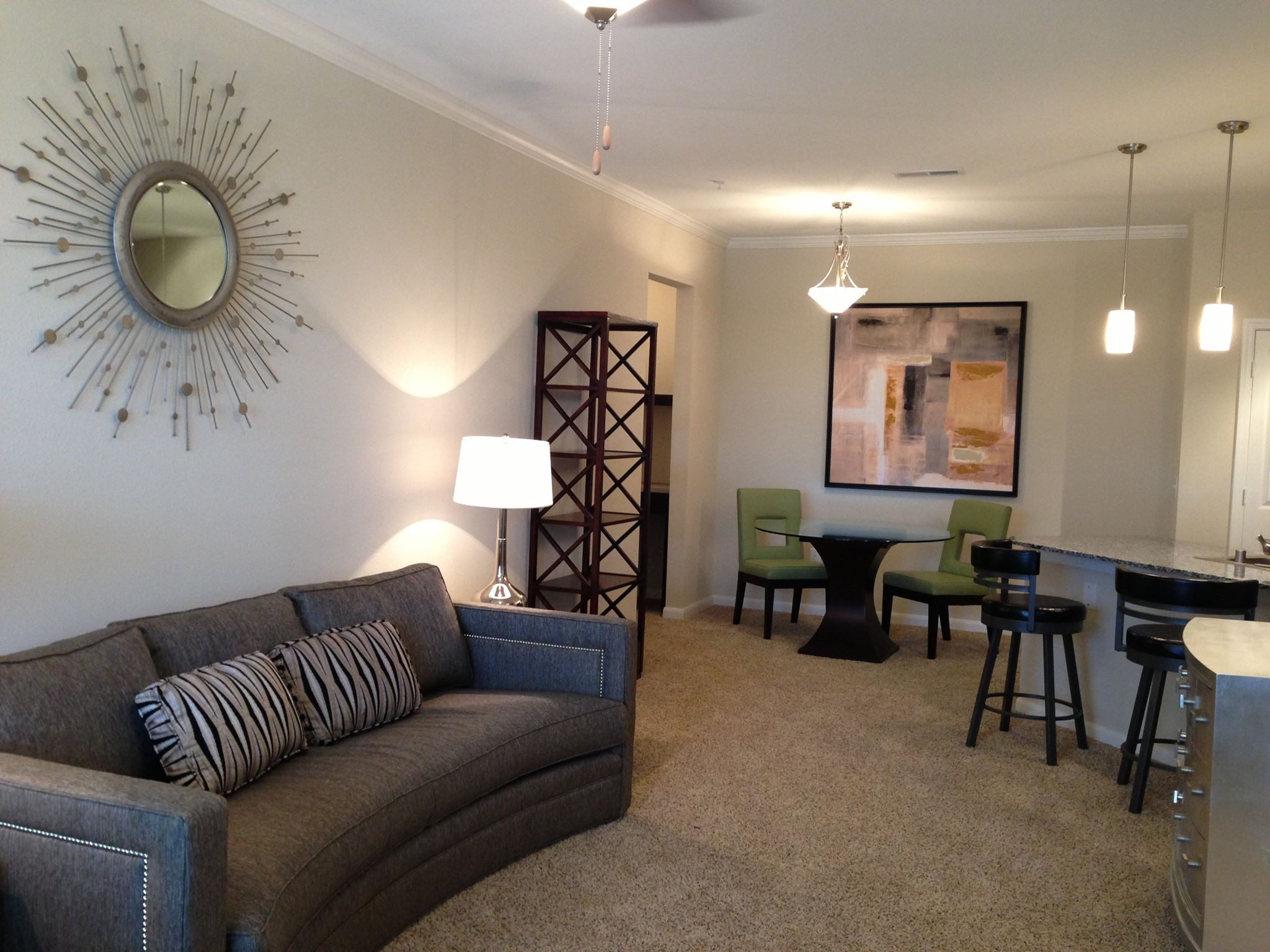 Living Room at Hurstbourne Estates Apartments in louisville, KY