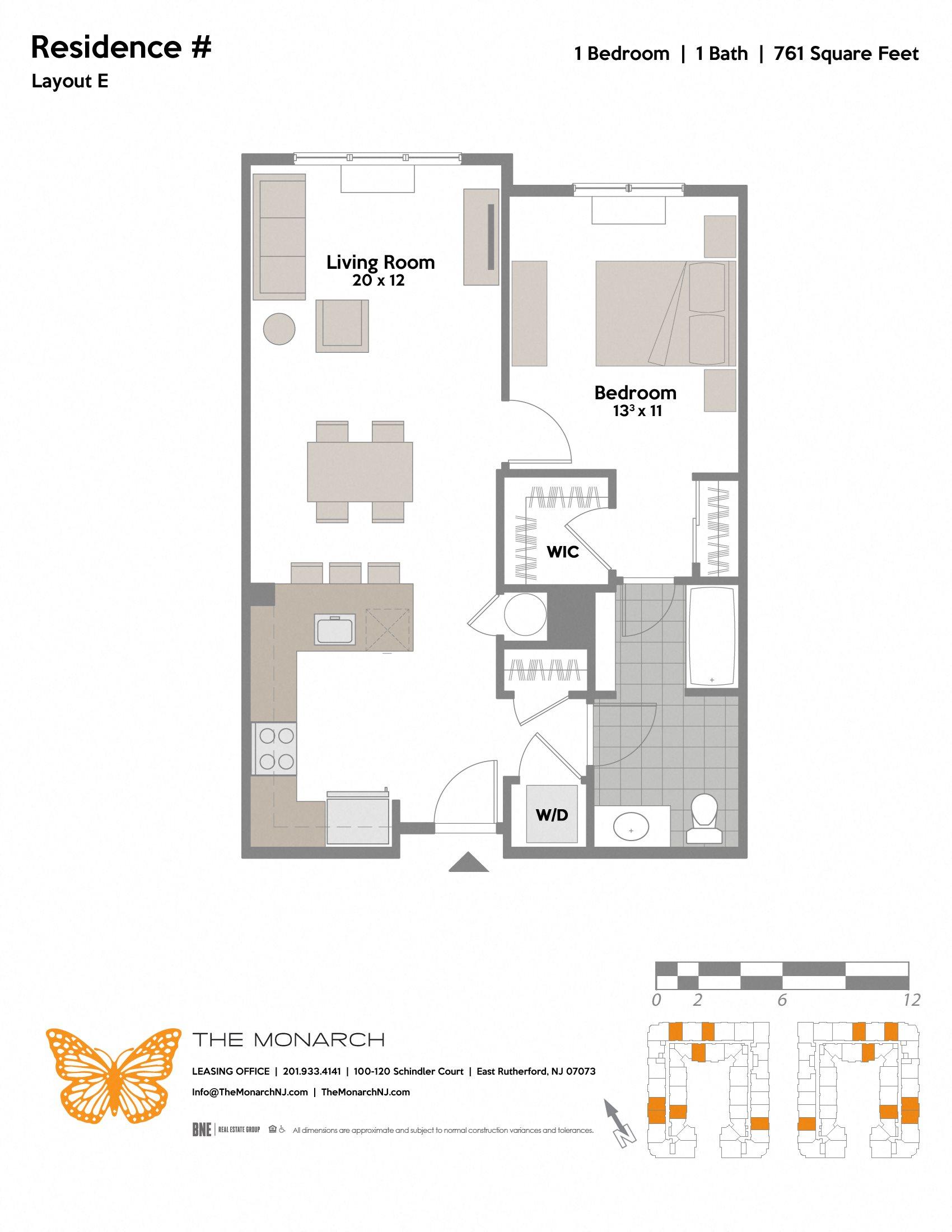 Layout E Floor Plan 1