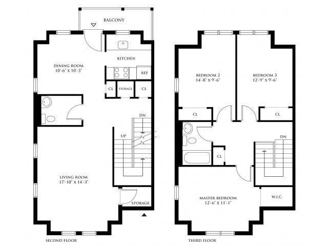 3 Bedroom Duplex Floor Plan 4