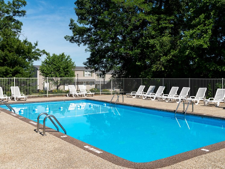 Swimming pool at Rolling Pines Apartments in Grand Rapids, MI